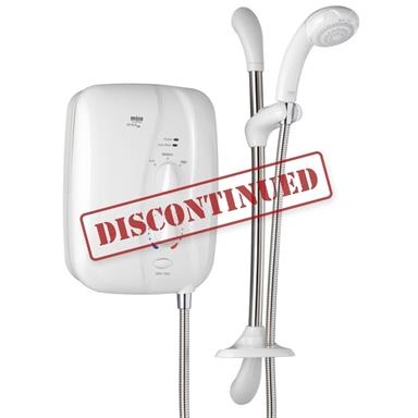 MIRA Elite ST 9.8kW Electric Shower Complete with Kit, White/Chrome 1.1563.230