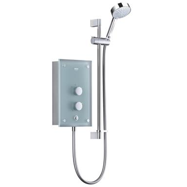 MIRA Azora Thermostatic 9.8kW Electric Shower Kit, Chrome/Frosted Glass 1.1634.001