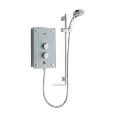 MIRA Galena Thermostatic 9.8kW Electric Shower Kit, Silver Glass/Chrome 1.1634.082
