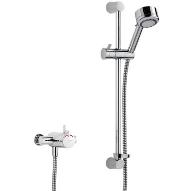 MIRA Miniduo EV Thermostatic Mixer ShowerKit, Chrome Plated