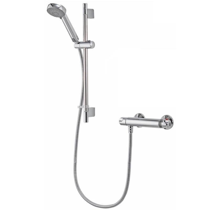 AQUALISA Midas 100 Thermostatic Bar Shower c/w Kit, Chrome, MD100BAR