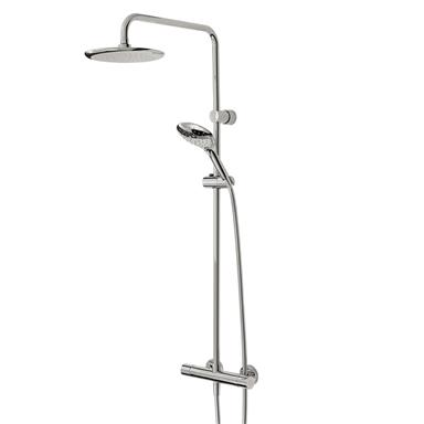 BRISTAN Claret Thermostatic ExposedBar Valve with Rigid Riser and Integral Di
