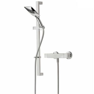 BRISTAN Vertico Thermostatic Bar Shower c/w Kit and Fast-Fit, Chrome, VR SHXMTFF C