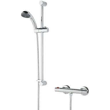 BRISTAN Zing Cool Touch Bar Shower c/w Kit and Fast-Fit, Chrome, ZI SHXSMCTFF C