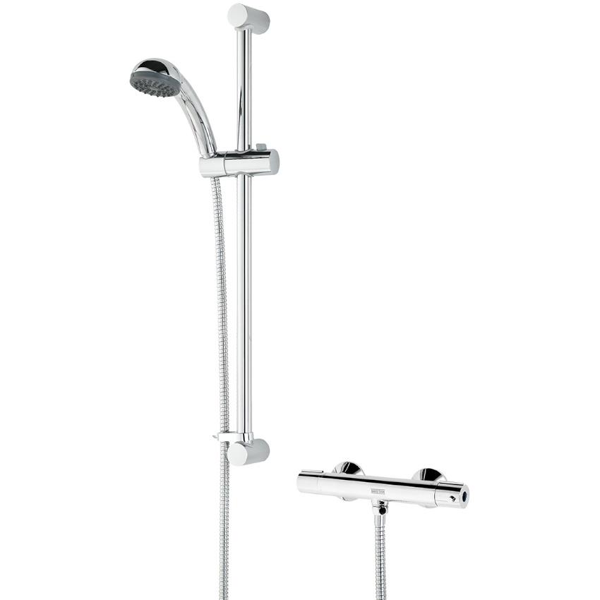 BRISTAN Zing Cool Touch Thermostatic Bar Shower c/w Kit, Chrome, ZI ...