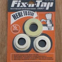 "ESSEX Fix-A-Tap 1/2"" 32mm Ceramic Wash Basin Taps Fittings Kit Orange"