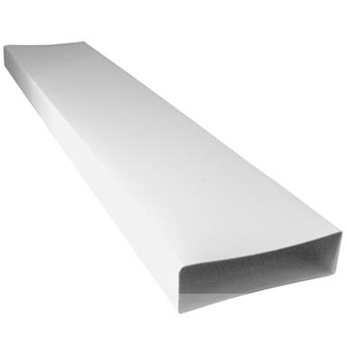 MANROSE 204MMx60MM LOW PROFILE DUCTING FLAT CHANNEL 1MTR