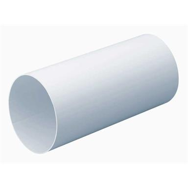 MANROSE 125MM ROUND DUCTING PIPE 1M
