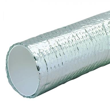MANROSE 125MM ROUND DUCTING PIPE INSULATED2M