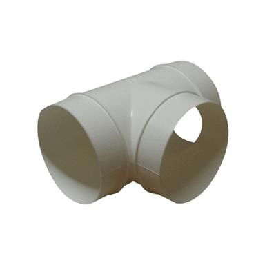 MANROSE 150MM ROUND DUCTING EQUAL T PIECECONNECTOR ALUMINIUM