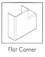 AD22SFC/2 22MM TAL D/TRUNK FLAT CORNER (2PER PACK)
