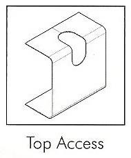 AD22TA/2 22MM TAL D/TRUNK TOP ACCESS (2 PER PACK)