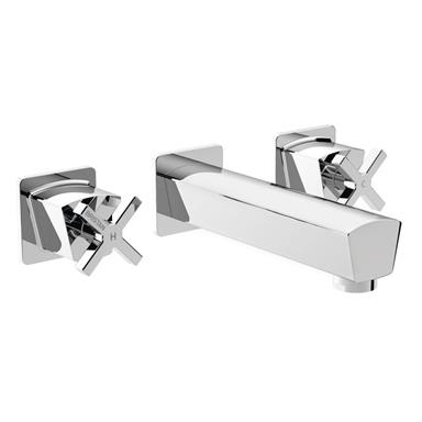 BRISTAN Cascade Wall Mounted Basin Mixer Chrome CAS WMBAS C