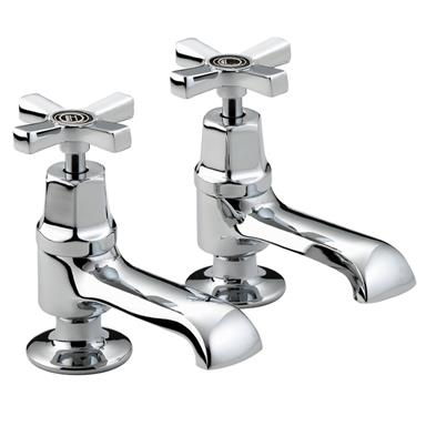 BRISTAN Art Deco Basin Taps Chrome with Ceramic Disc Valves D 1/2 C CD
