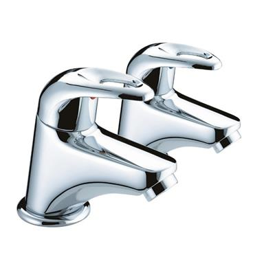 BRISTAN Java Bath Pillar Taps Lever Handles Chrome Plated Pair J 3/4 C
