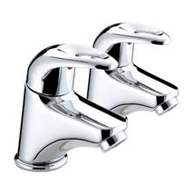 BRISTAN Java Basin Pillar Taps Lever Handles Chrome Plated Pair J 1/2 C