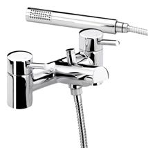 BRISTAN Prism Deck Mounted Bath/Shower Mixer w/ Handset Chrome Plated PM BSM C