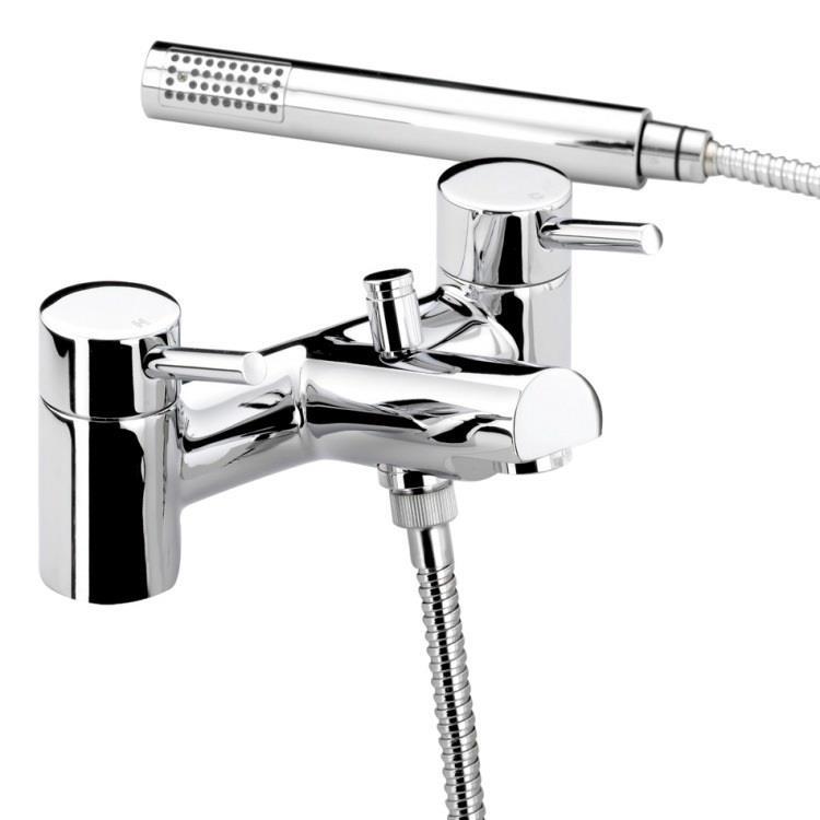 Bristan Prism Deck Mounted Bath Shower Mixer W Handset