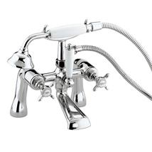 BRISTAN 1901 Bath/Shower Mixer w Handset Chrome Plated Traditional Crosshead N BSM C