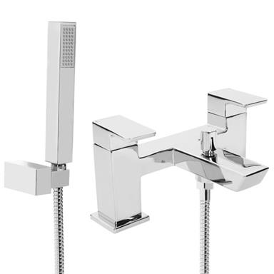 BRISTAN Cobalt Bath/Shower Mixer w/ Handset Levers Handles, Chrome Plated, COB BSM C