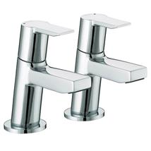 BRISTAN Pisa Basin Pillar Taps Chrome Plated Lever Handles Pair PS 1/2 C