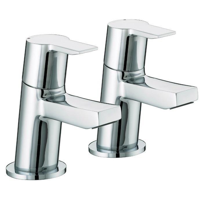 bristan pisa bath pillar taps chrome plated lever handles. Black Bedroom Furniture Sets. Home Design Ideas
