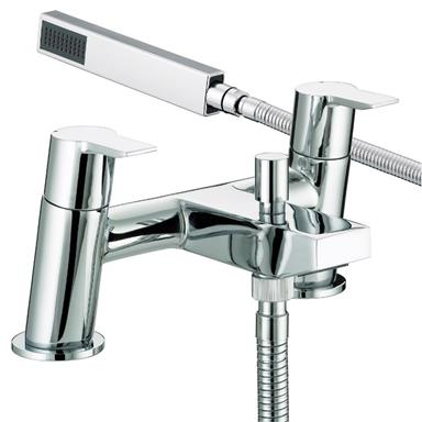 BRISTAN Pisa Deck Mounted Bath/Shower Mixer w/ Handset Chrome Plated PS BSM C