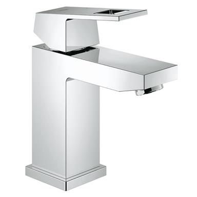 "GROHE Eurocube Single Lever Basin Mixer 1/2"", S-Size, No Waste, Chrome, 23132 000"
