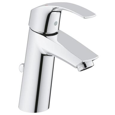 "GROHE Eurosmart Single Lever Basin Mixer 1/2"", M-Size, w/ PUW, Chrome, 23322 001"