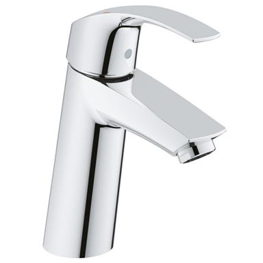 "GROHE Eurosmart Single Lever Basin Mixer 1/2"", M-Size, No Waste, Chrome, 23324 001"