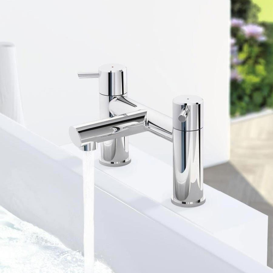 grohe concetto bath filler mixer lever handles chrome. Black Bedroom Furniture Sets. Home Design Ideas