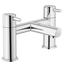 GROHE Concetto Deck Mounted Bath Filler/Mixer Lever Handles Chrome Plated 25102 000