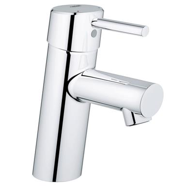 GROHE Concetto Single Lever Basin Mixer Monobloc, No Waste, Chrome Plated 32240 10L