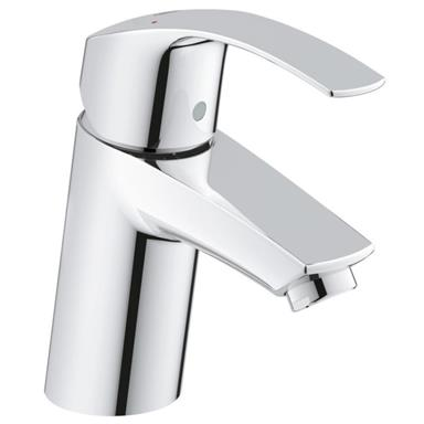 "GROHE Eurosmart Single Lever Basin Mixer 1/2"", S-Size, No Waste, Chrome, 32467 20L"