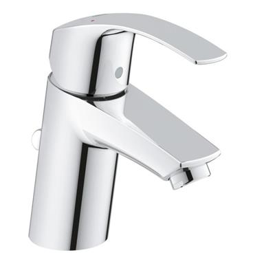 "GROHE Eurosmart Single Lever Basin Mixer 1/2"", S-Size, w/ PUW, Chrome, 33265 002"