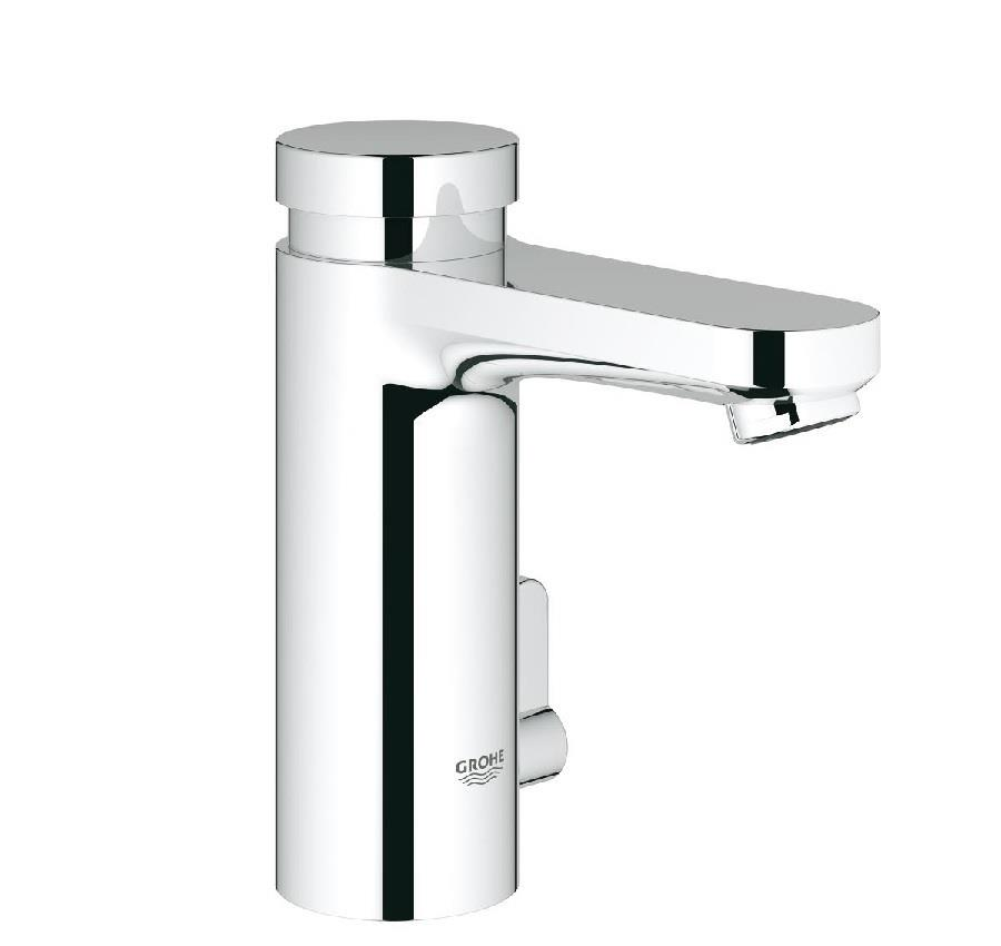 GROHE Eurosmart Cosmopolitan T Self-Closing, Basin Mixer, Chrome ...