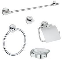 GROHE Essentials Bathroom Accessories Set Chrome Plated 43044 000