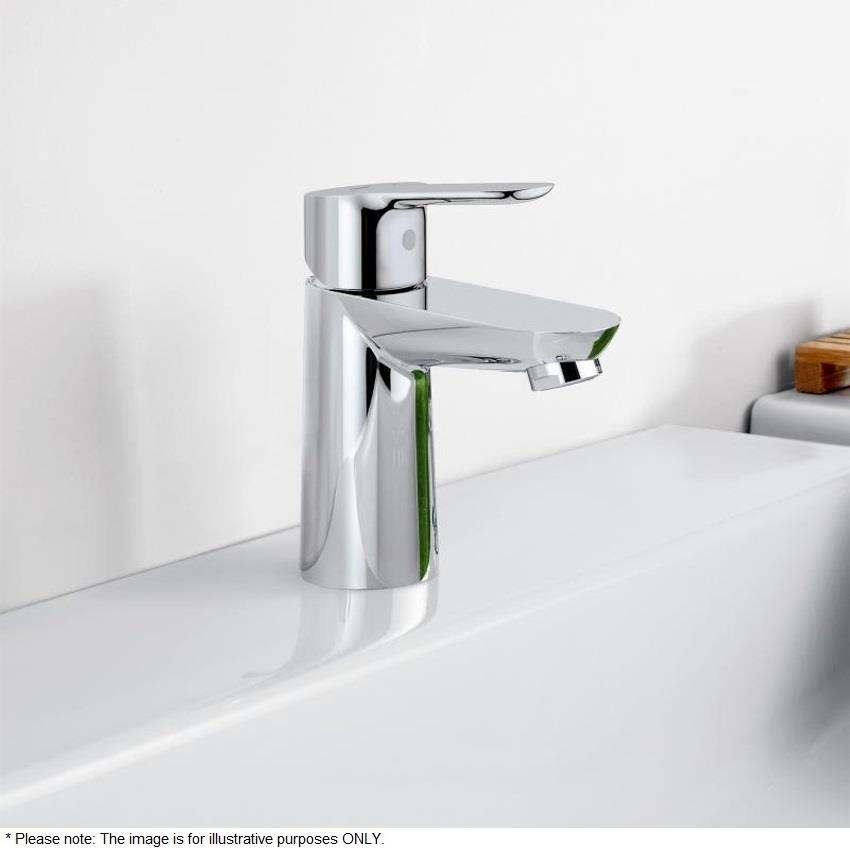 grohe bauedge single lever basin mixer 1 2 no waste chrome 23330 000