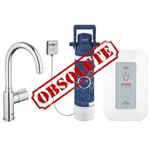 GROHE Red Mono Pillar tap, C Spout and Single Boiler, Chrome 30060000