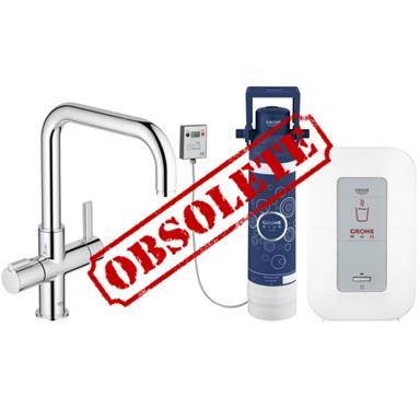 GROHE Red Duo Monobloc Kitchen Mixer Square Spout and Single Boiler 4 Ltrs, 30153 000