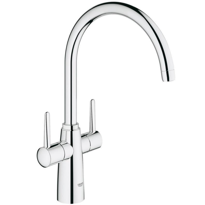 Grohe Ambi Contemporary Monobloc Two Handle Kitchen Sink Mixer
