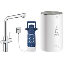GROHE Red Duo 2.0 Kitchen Mixer, L-Spout and  Boiler M Size, Chrome, 30341 001