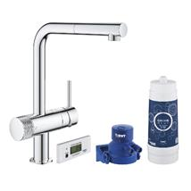 GROHE Blue Pure Minta Starter Kit, Chrome, 30382000