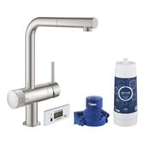 GROHE Blue Pure Minta Starter Kit, Supersteel, 30382DC0