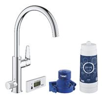 GROHE Blue Pure Baucurve Starter Kit, Chrome, 30385000