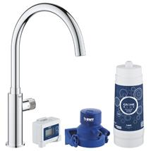 GROHE Blue Pure Mono Starter Kit, Chrome, 30387 000