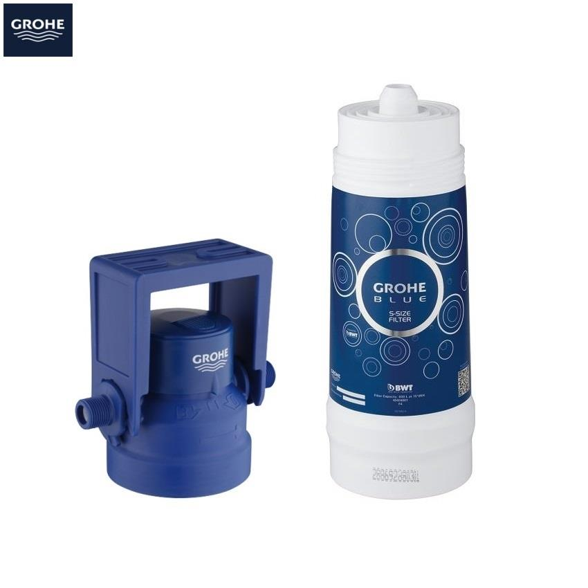 grohe blue pure filter kitchen mixer starter kit chrome 31087 001. Black Bedroom Furniture Sets. Home Design Ideas