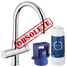 GROHE Blue Pure Filter Kitchen Mixer Starter Kit, Chrome Plated, 31087 001