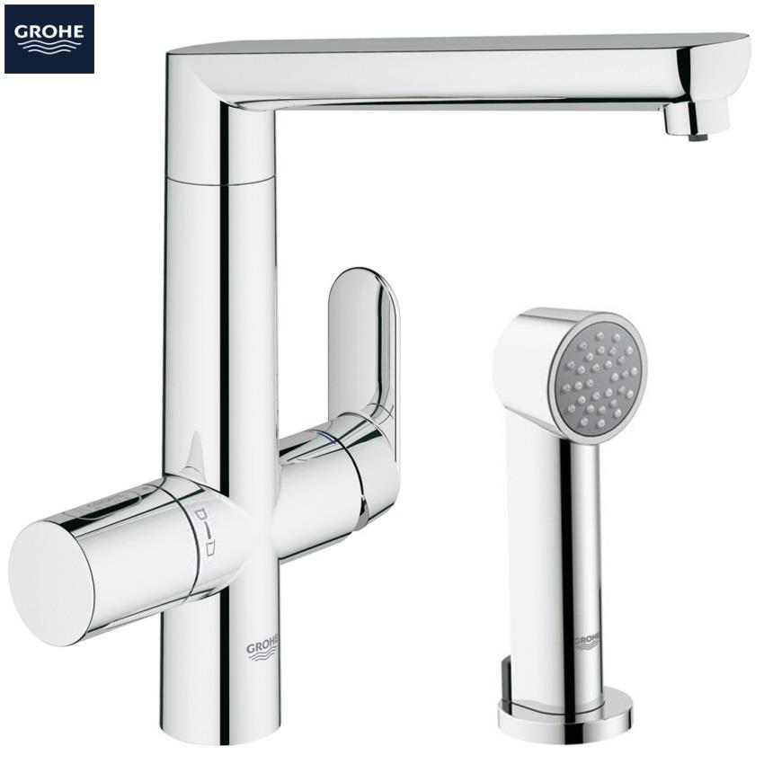 grohe blue k7 chilled and sparkling filter kitchen mixer. Black Bedroom Furniture Sets. Home Design Ideas