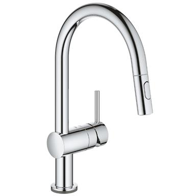 GROHE Minta Touch Electronic Monobloc Kitchen Mixer Arched Pull-Out Spout, 31358 000